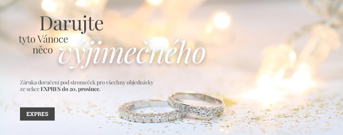 Zlaté šperky KLENOTA: Diamantový zásnubný prsteň s briliantmi z bieleho zlata a diamantový zlatý snubný snubný prsteň
