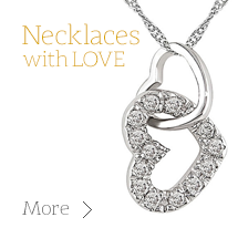 Love Jewellery and Hearts Pendants and Necklaces for Valentine's Day including Partner Gifts from Gold