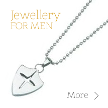 Bracelets, gold pendants, silver earrings and rings for men in our Male Jewellery Category
