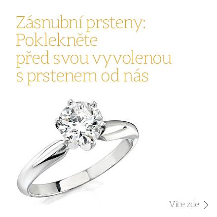 Zásnubní prsteny, Diamantové zásnubní prsteny, Zásnubní prsteny s diamantem, Zásnubní prsteny z bílého zlata, Zásnubní prsteny ze žlutého zlata, Zásnubní prsteny z chirurgické oceli, Stříbrné zásnubní prsteny a Zásnubní prsteny se zirkonem.