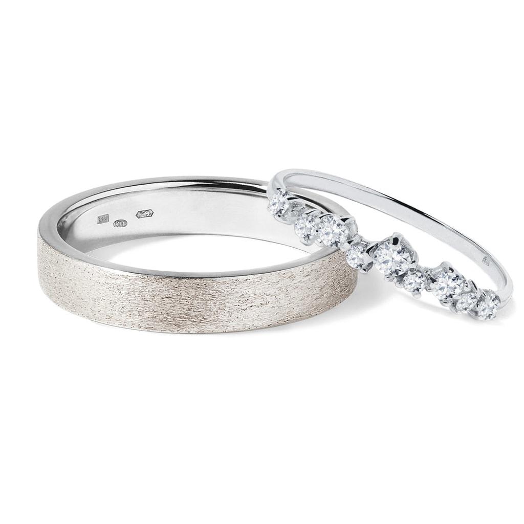 Diamantove Snubni Prsteny Z Bileho Zlata Klenota