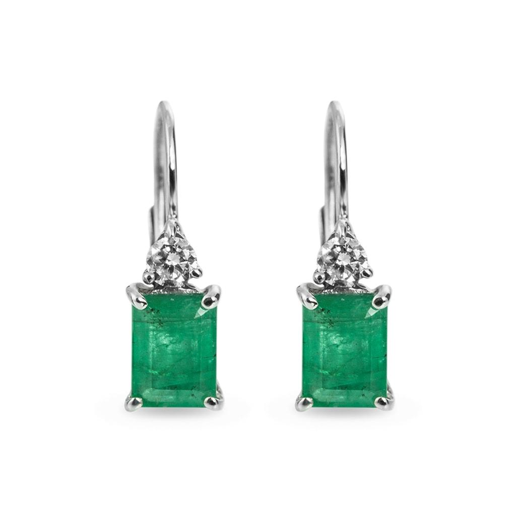 Smaragd schmuck  KLENOTA   Ohrringe aus Gold mit Smaragden und Diamanten   Ohrringe ...