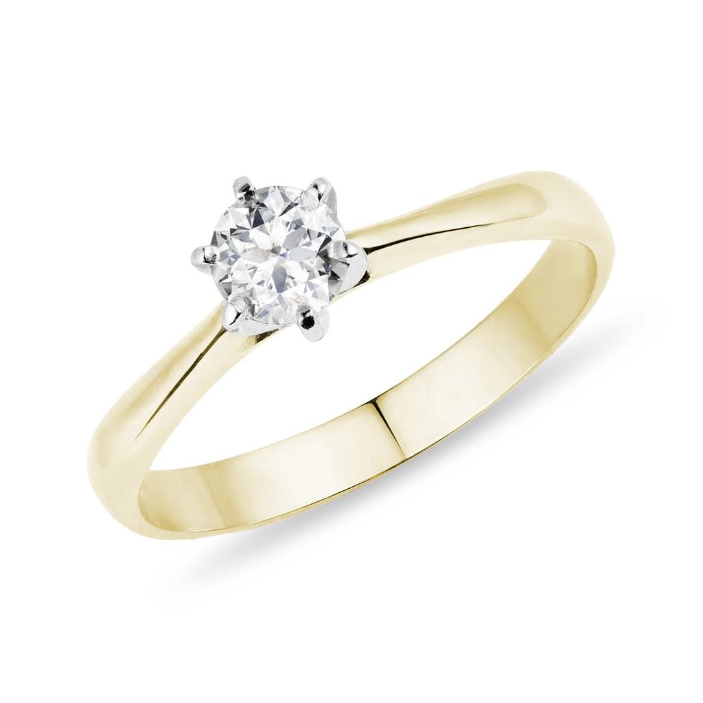 Złoty Pierścionek Zaręczynowy Klenota