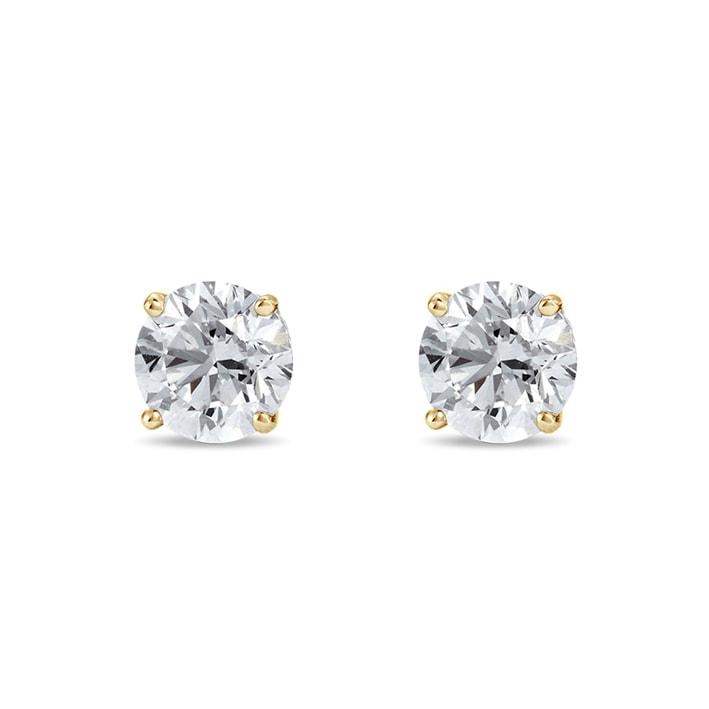Luxury Diamond Earrings In 14kt Gold