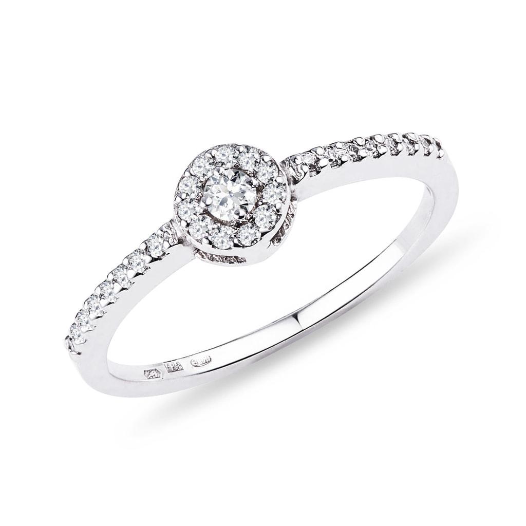 Diamantový zásnubný prsteň z bieleho zlata  0658d3537aa