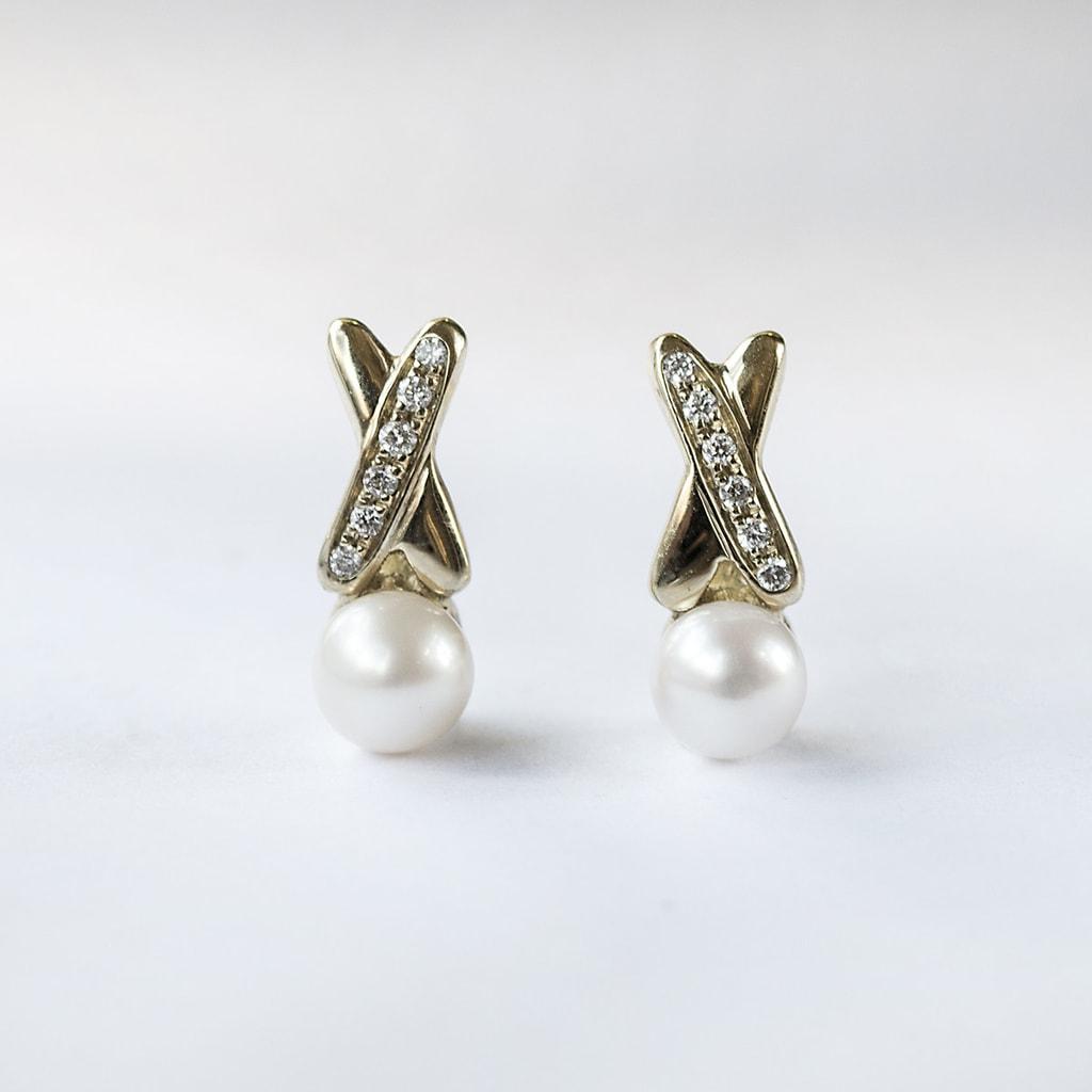 klenota ohrringe mit perlen und diamanten gold perlen ohrringe schmuck mit liebe gemacht. Black Bedroom Furniture Sets. Home Design Ideas