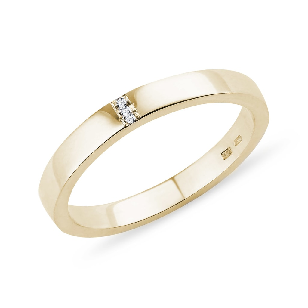 Zlaty Snubni Prsten S Diamanty Klenota