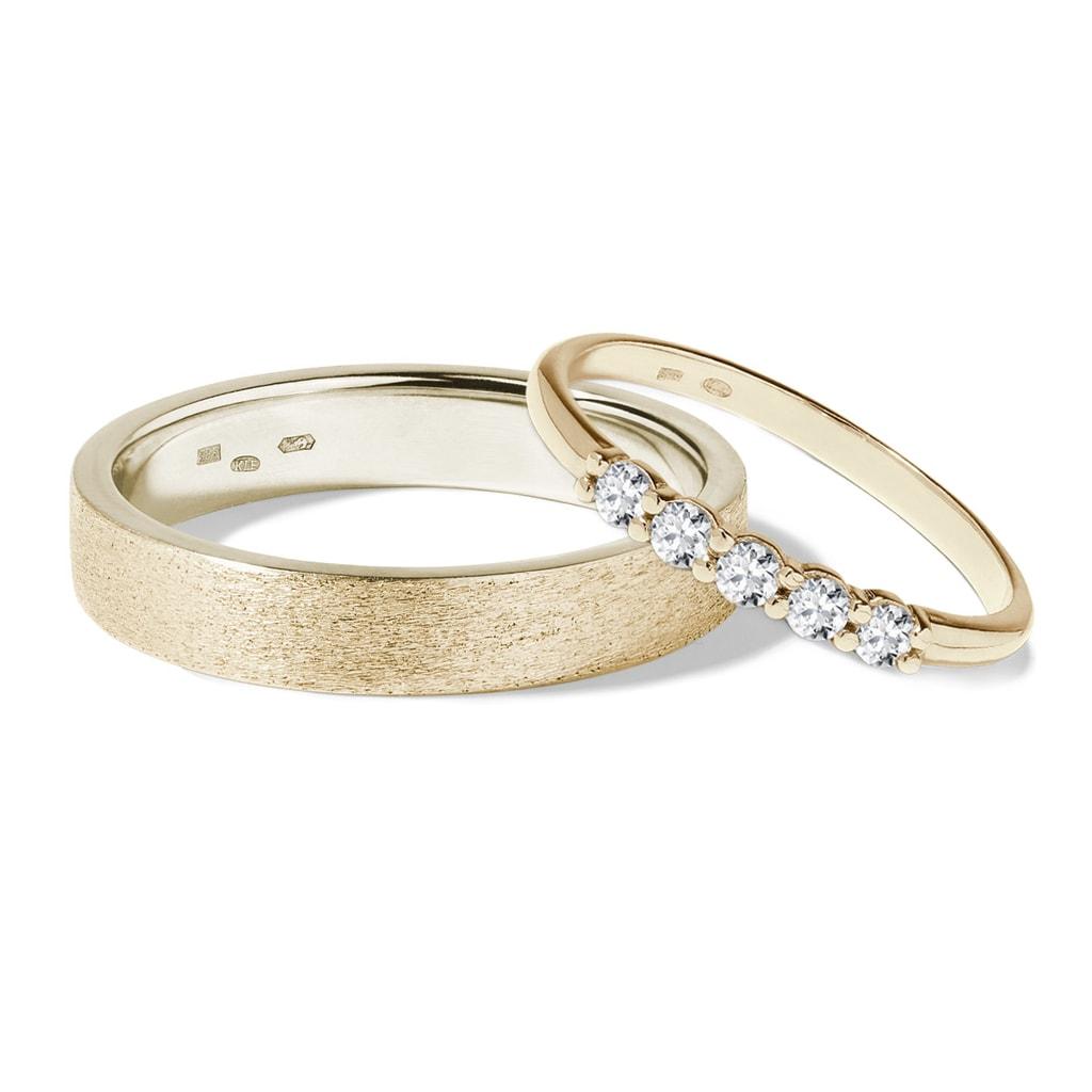 Zlate Snubni Prsteny S Diamanty Klenota