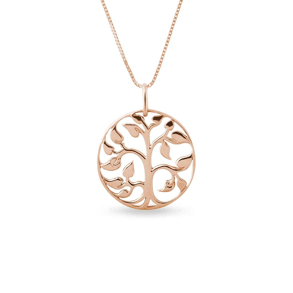 Zlatý náhrdelník ve tvaru stromu  69f653f4b39
