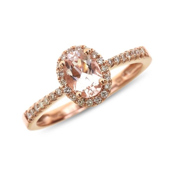 Bien connu KLENOTA | Bague de fiançailles en or rose avec morganite | Bagues  UT91
