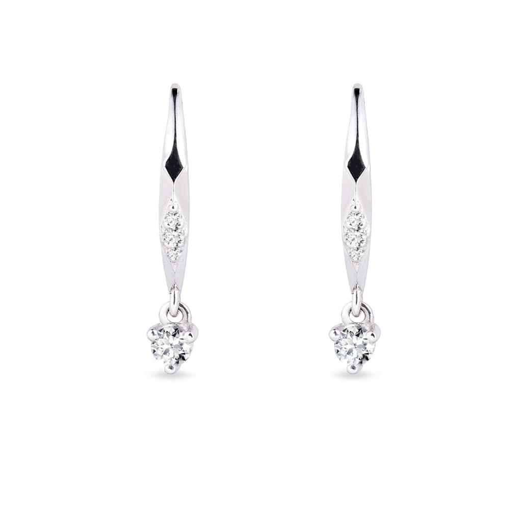 Diamantové náušnice z bieleho zlata  ca635e96761