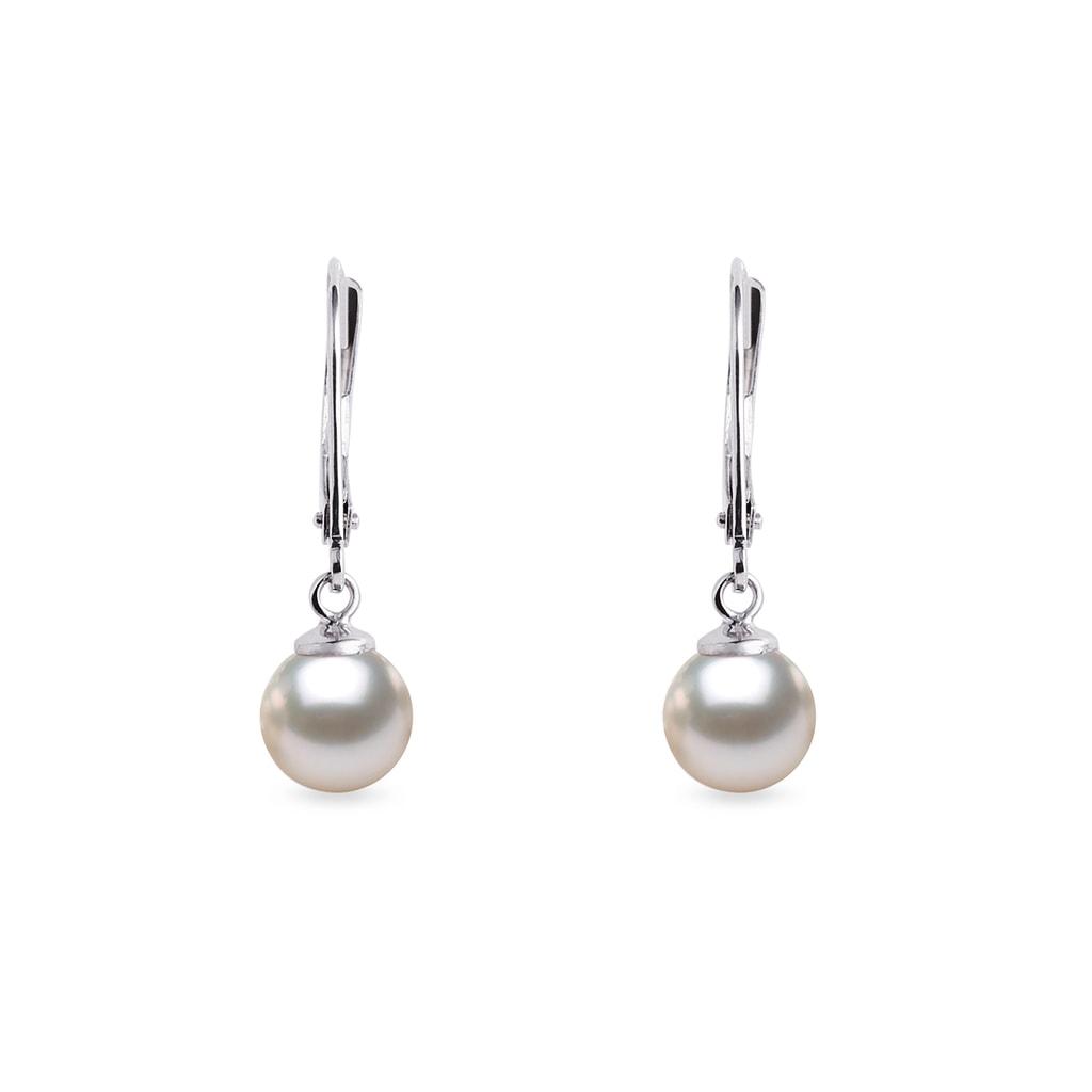 Zlaté náušnice s perlou Akoya  e41853f08fd