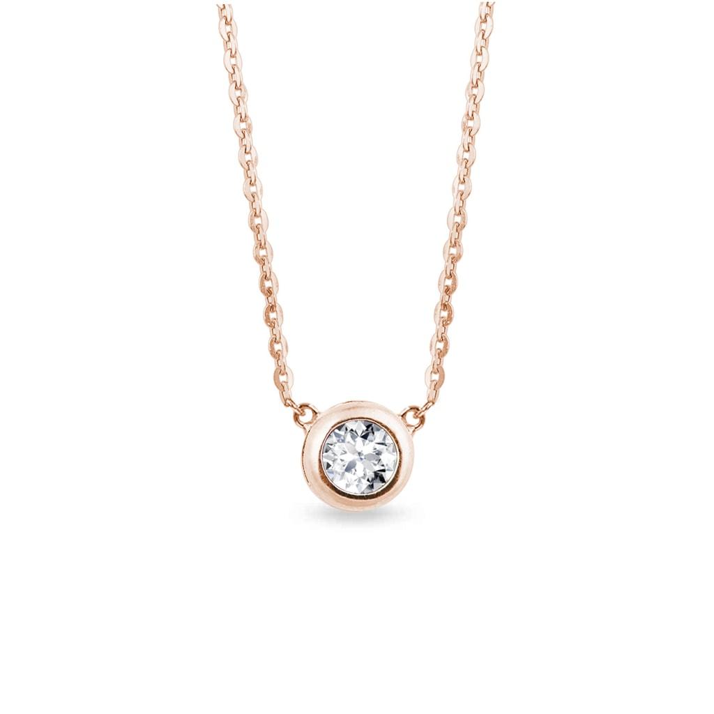 83b49848c Diamantový náhrdelník v růžovém zlatě | KLENOTA