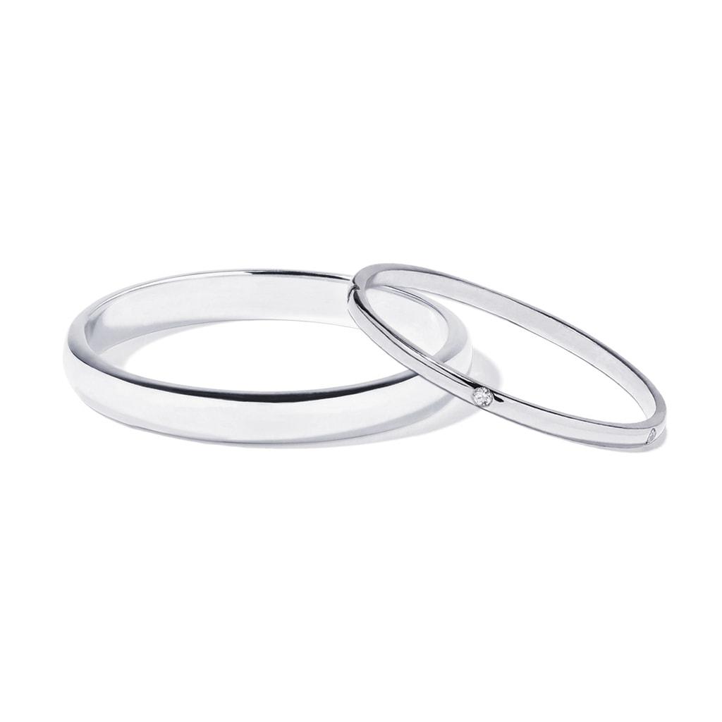 Snubni Prsteny Z Bileho Zlata Klenota