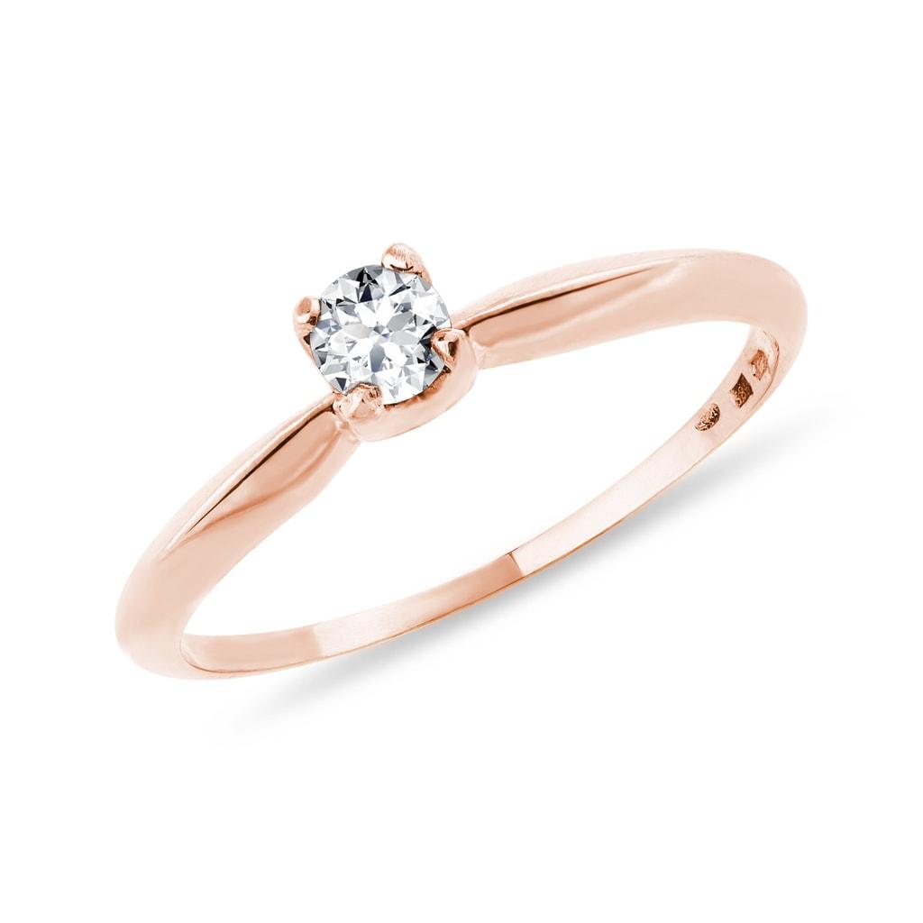 Briliantový zásnubný prsteň z ružového zlata. Previous 7d5ecc3a863