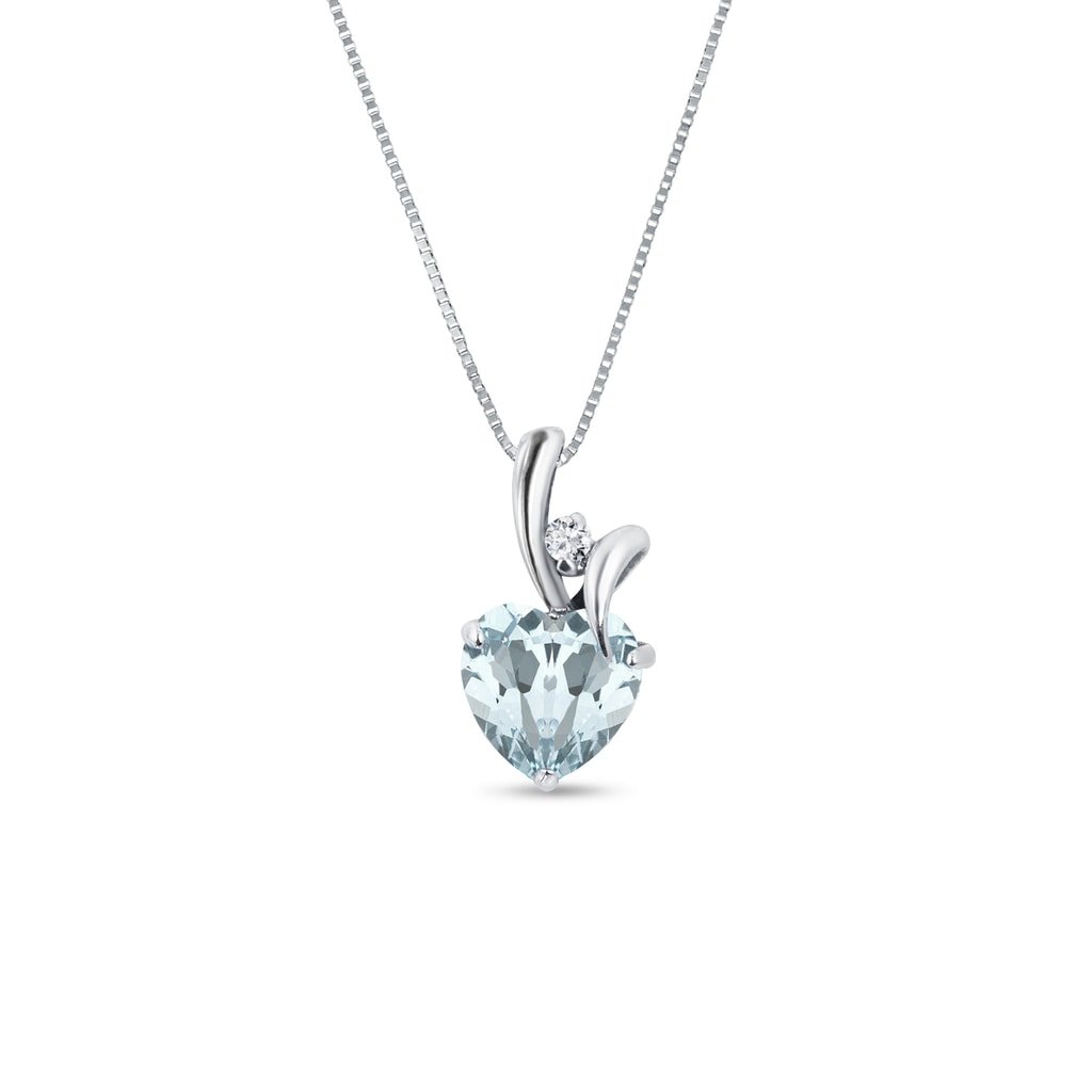 Aquamarine and diamond heart pendant in silver jewellery with love aquamarine and diamond heart pendant in silver aloadofball Gallery