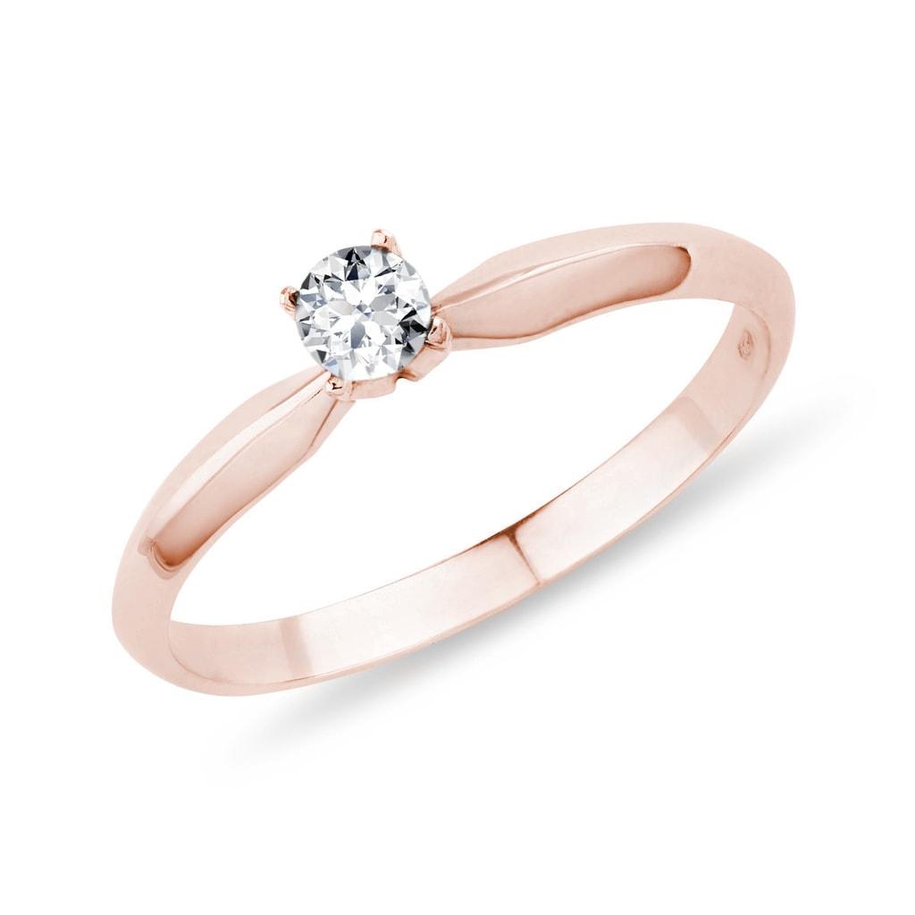 Zásnubný prsteň z ružového zlata s diamantom. Previous 6a5d98c6c31