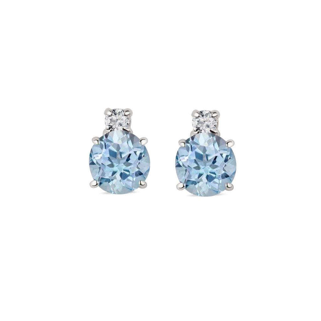 boucles d 39 oreilles en or blanc topaze et diamants klenota bijoux avec amour. Black Bedroom Furniture Sets. Home Design Ideas