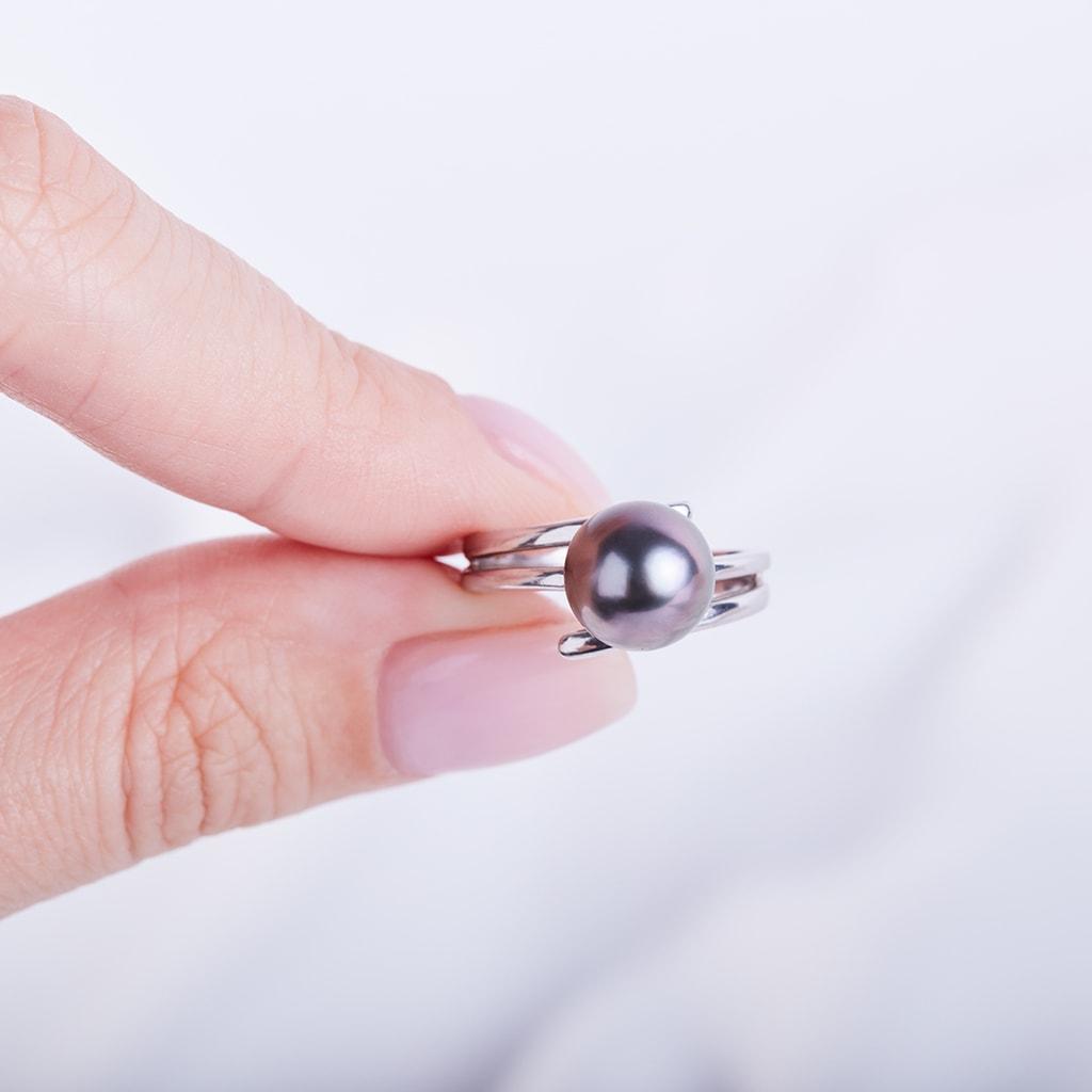 klenota bague en or avec perle de tahiti bagues en perles klenota bijoux avec amour. Black Bedroom Furniture Sets. Home Design Ideas