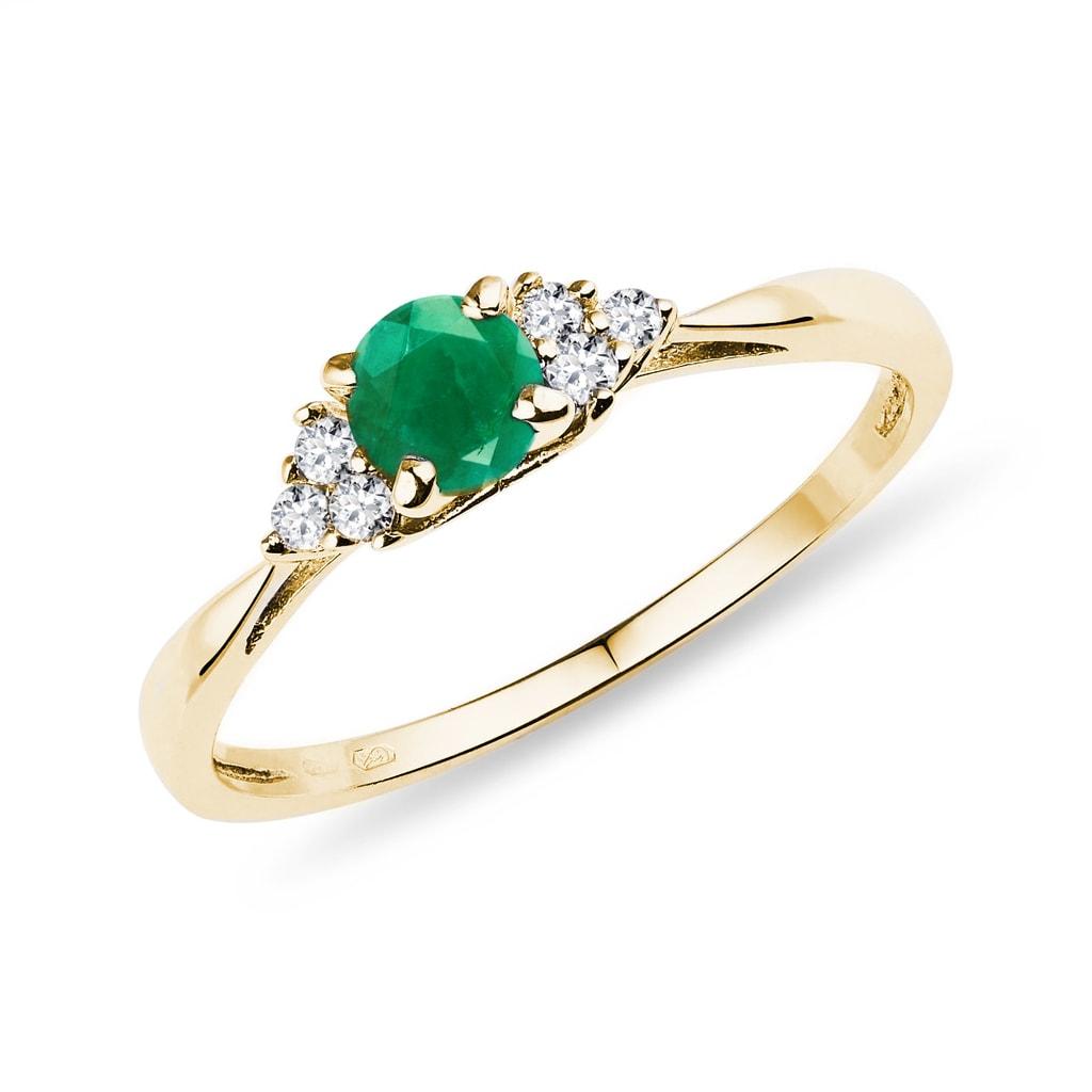Connu KLENOTA | Bague avec émeraude et diamants | Bagues en Émeraude  PJ62