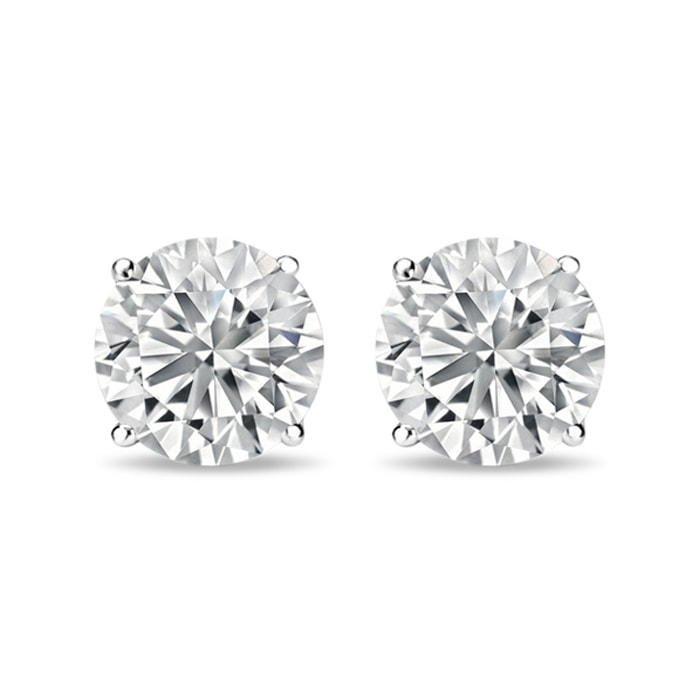 Luxury Diamond Earrings In 14kt White Gold
