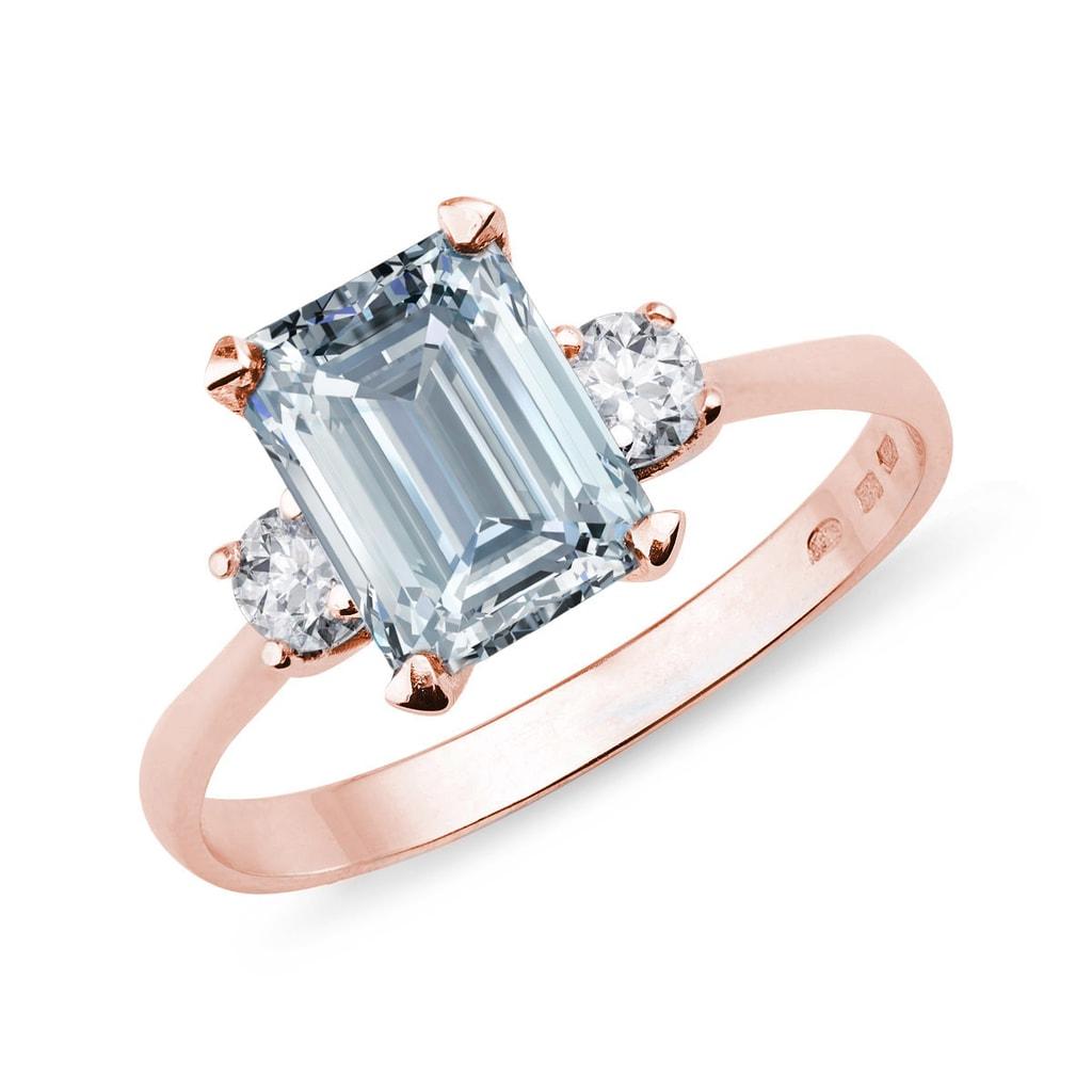 Klenota Aquamarin Ring Mit Diamanten Ringe Aquamarin