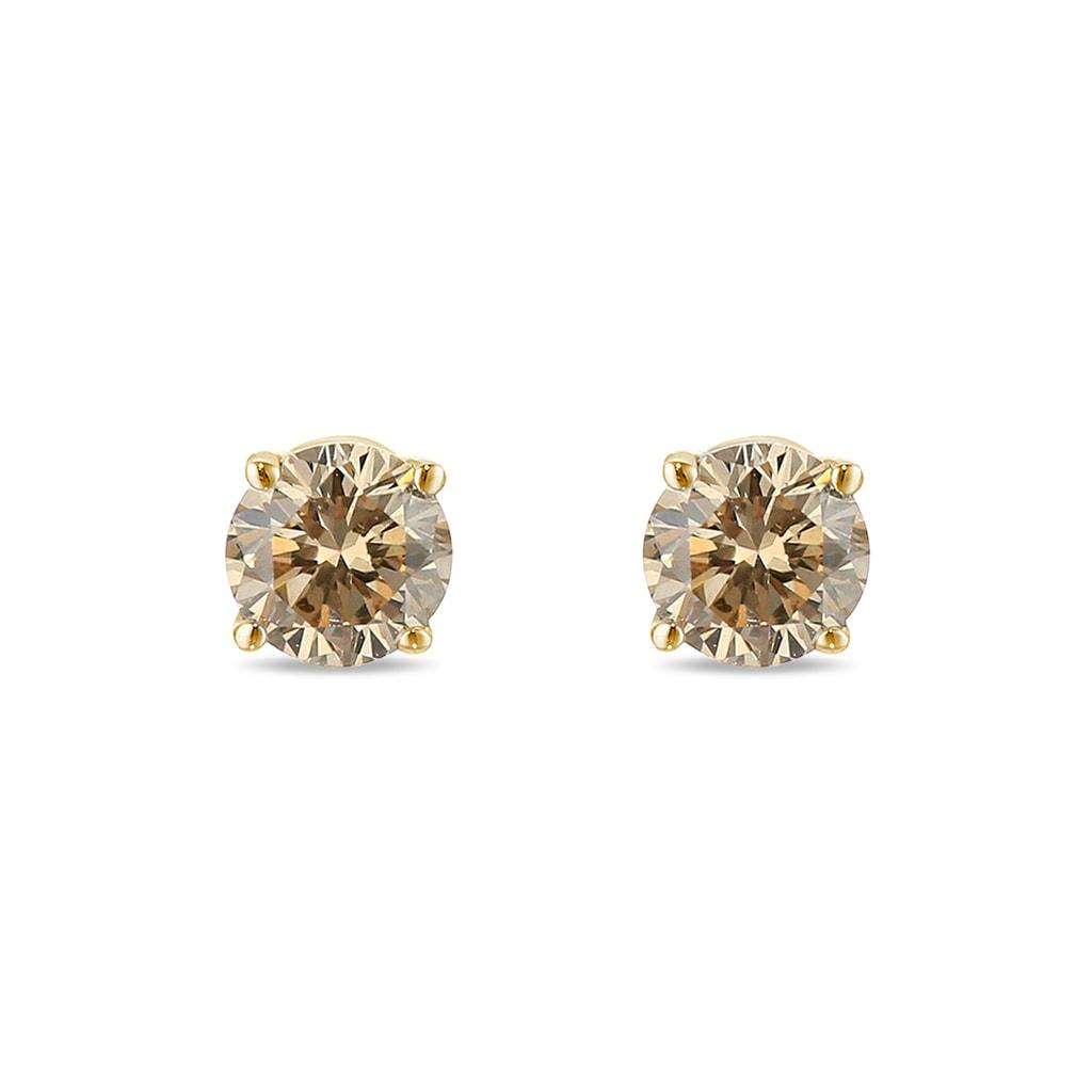 champagne diamond stud earrings klenota. Black Bedroom Furniture Sets. Home Design Ideas