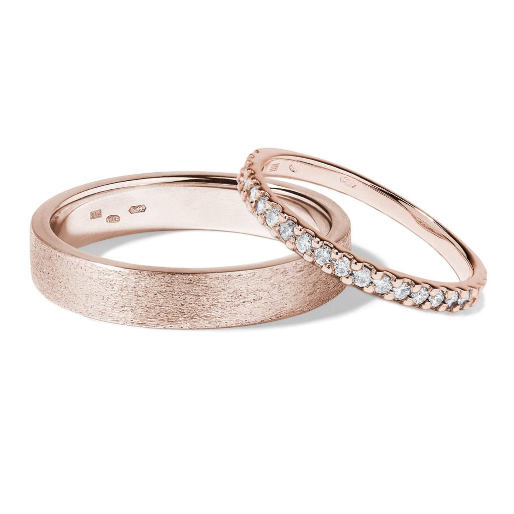 Snubni Prsteny Z Ruzoveho Zlata Klenota