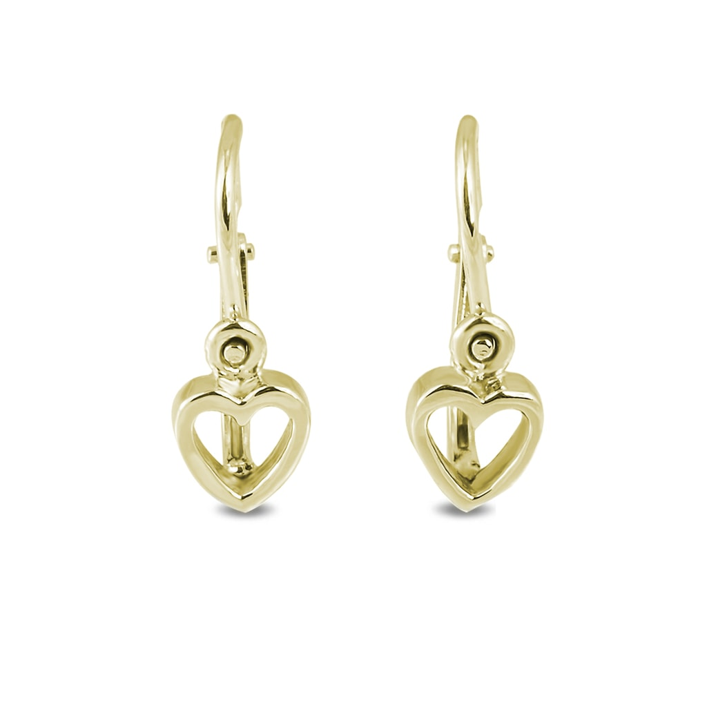 klenota baby earrings in 14kt gold yellow gold