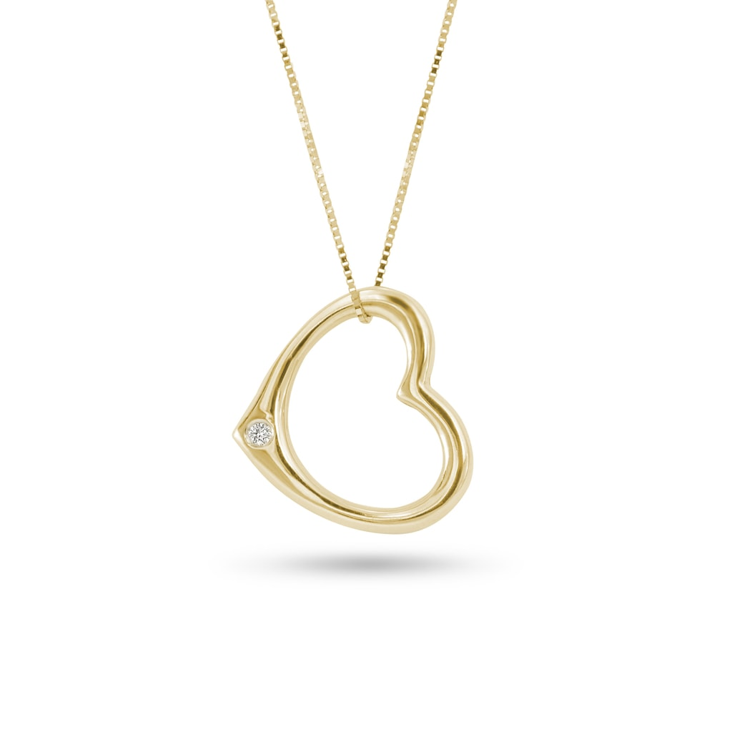 Yellow gold heart shaped pendant jewellery with love yellow gold heart shaped pendant aloadofball Images