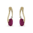 Ruby and diamond ​​earrings in 14kt solid gold