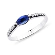SAPPHIRE RING WITH DIAMONDS IN WHITE GOLD - SAPPHIRE RINGS - RINGS