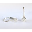 BABY DIAMOND FLOWER EARRINGS IN 14KT GOLD - WHITE GOLD EARRINGS - EARRINGS