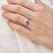 GOLD ENGAGEMENT RING WITH SAPPHIRE - SAPPHIRE RINGS - RINGS