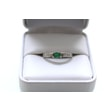 EMERALD RING IN 14KT WHITE GOLD - EMERALD RINGS - RINGS