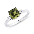 MOLDAVITE AND DIAMOND RING IN WHITE GOLD - MOLDAVITE RINGS{% if kategorie.adresa_nazvy[0] != zbozi.kategorie.nazev %} - RINGS{% endif %}