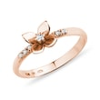 ROSE GOLD RING WITH DIAMONDS - DIAMOND RINGS - RINGS