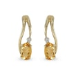 CITRINE AND DIAMOND EARRINGS IN 14KT GOLD - YELLOW GOLD EARRINGS{% if kategorie.adresa_nazvy[0] != zbozi.kategorie.nazev %} - EARRINGS{% endif %}
