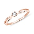 Diamond ring in 14kt rose gold