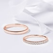Wedding rings in rose gold with diamonds