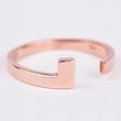 WHITE AND ROSE GOLD RING - WHITE GOLD RINGS - RINGS