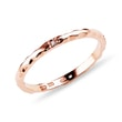 Diamond 14kt rose gold ring