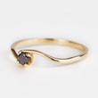 BLACK DIAMOND RING IN 14KT GOLD - DIAMOND RINGS - RINGS