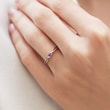AMETHYST RING IN 14KT GOLD - ENGAGEMENT GEMSTONE RINGS - ENGAGEMENT RINGS