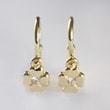 BABY DIAMOND FLOWER EARRINGS IN 14KT GOLD - YELLOW GOLD EARRINGS - EARRINGS