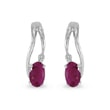 Ruby ​​and diamond earrings in 14kt white gold
