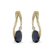 Sapphire and diamond earrings in 14kt gold
