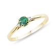 ENGAGEMENT RING WITH DIAMONDS AND AN EMERALD - ENGAGEMENT GEMSTONE RINGS - ENGAGEMENT RINGS