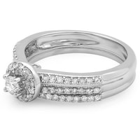 Diamond engagement and wedding rings in 14kt gold - White Gold Rings