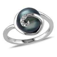 Tahitian pearl ring in 14kt gold - Tahitian Pearls Jewellery
